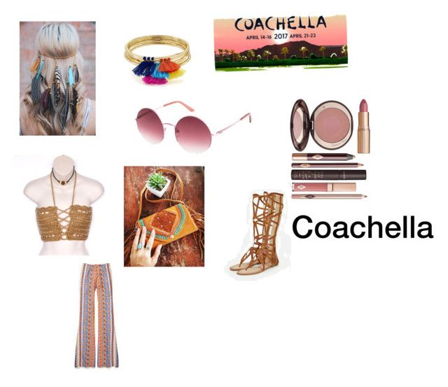 Coachella outfit by emily-nguyen6734 on Polyvore featuring Mahiya, JustFab, Aqua, Roxy and Charlotte Tilbury