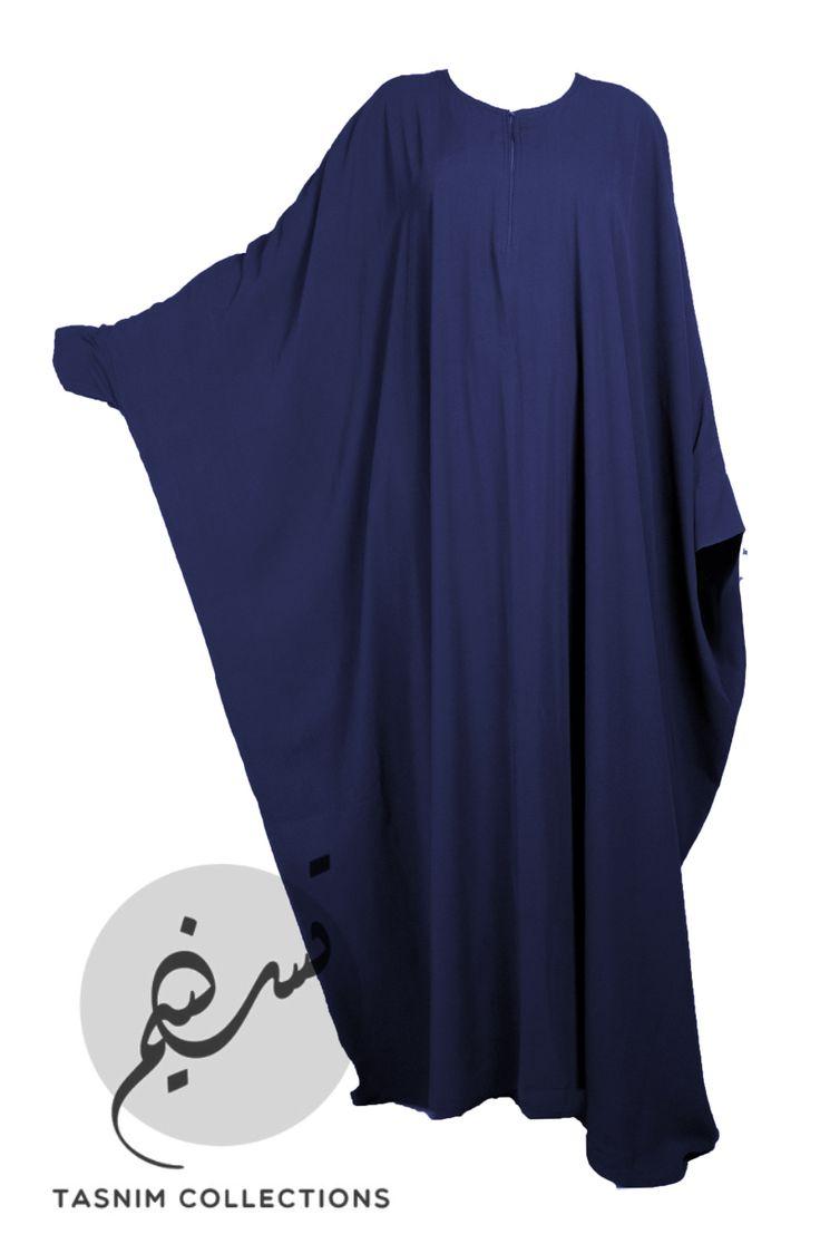 """Bisht abaya """"Noor"""" - navy blue - Tasnimcollections"""