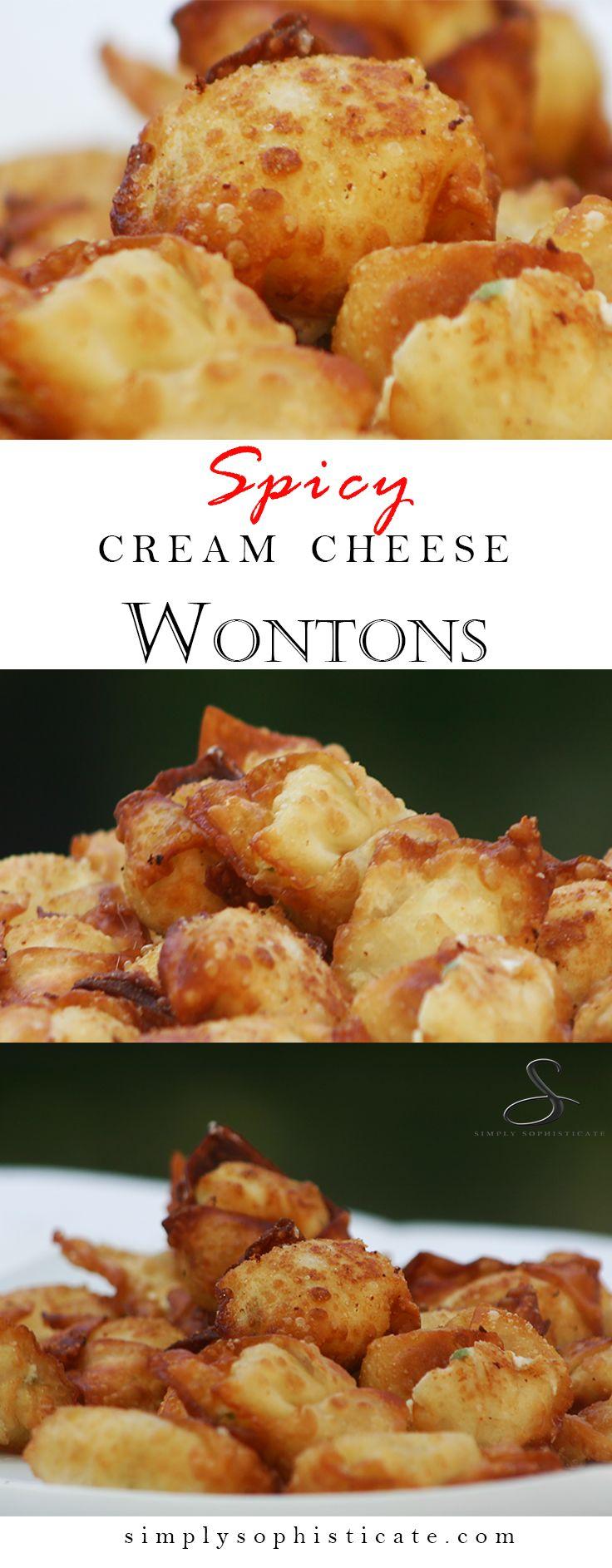 Spicy Cream Cheese Wontons