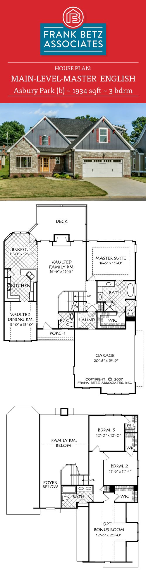 17 best images about main level master house plans on for Betz house plans