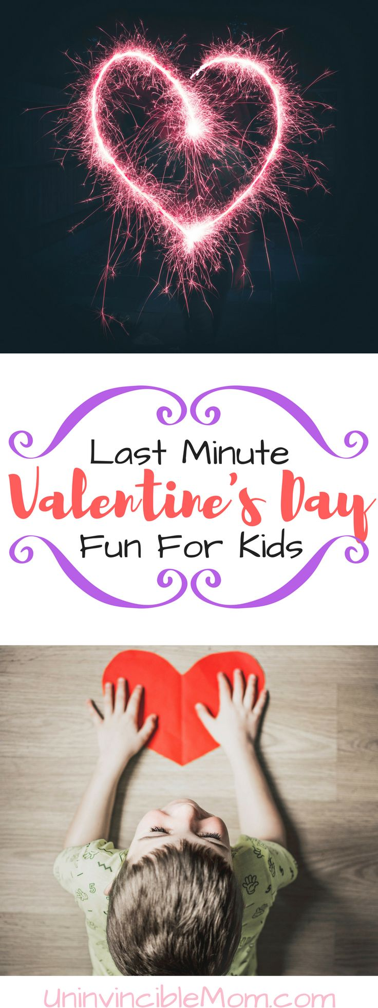 Is this one of the holidays that got away from you this year? Check out these ideas if you need to plan some last minute Valentine's Day fun for kids!