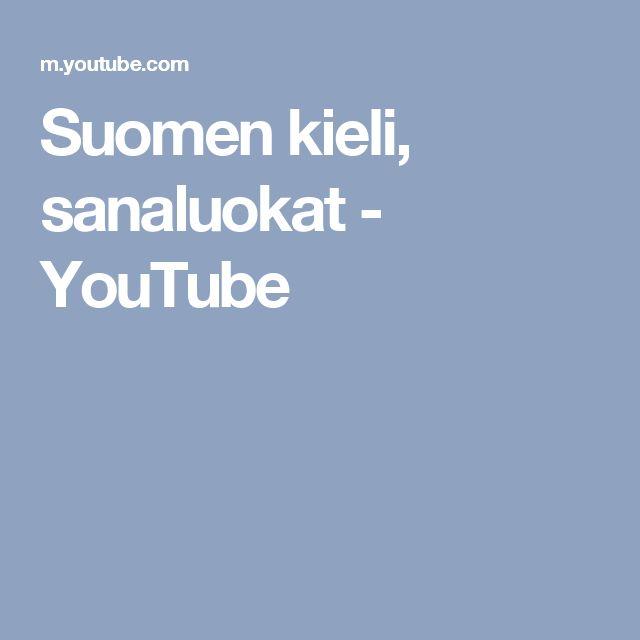 Suomen kieli, sanaluokat - YouTube