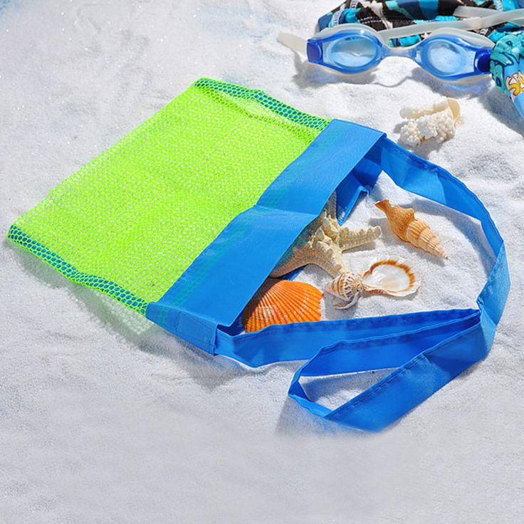 Kids Sand Away Mesh Beach Receive Bag Shell Collection Sandpit Toys Storage Bag #Unbranded #Bag
