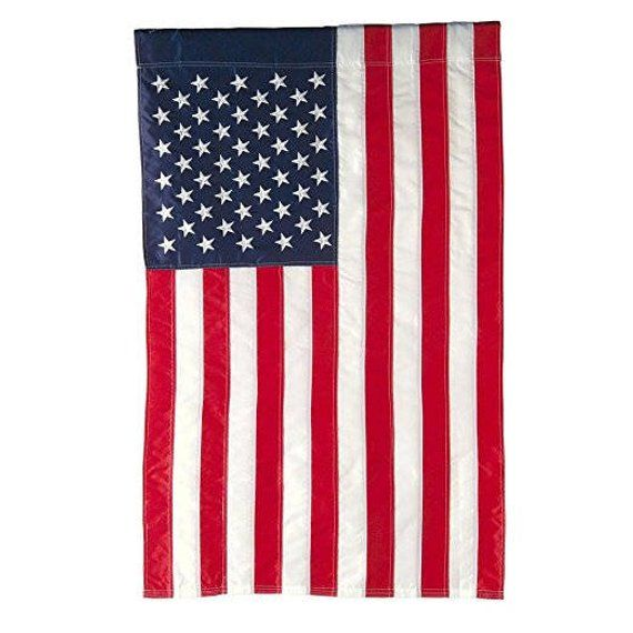 American Garden Flag W Sleeve 12 X 18 Usa United States Of America Us Evergreen Flags Large American Flag American Flag