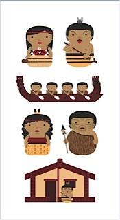 maori cute illustrations