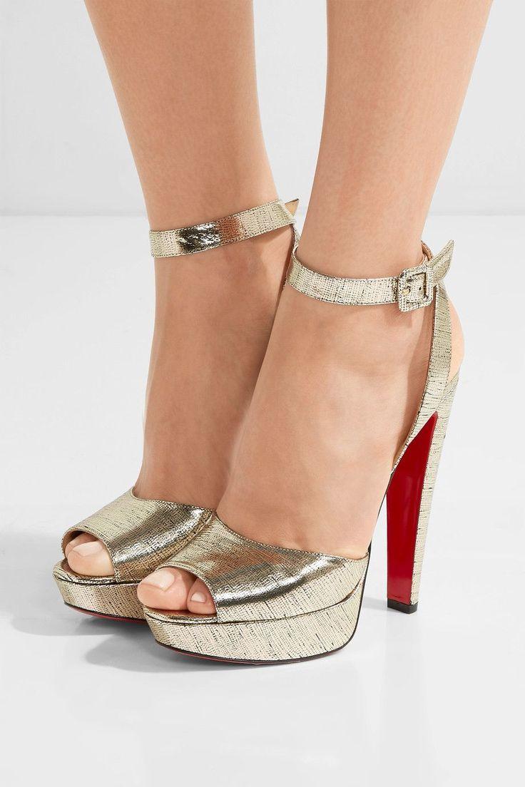 CHRISTIAN LOUBOUTIN Louloudancing metallic leather platform sandals