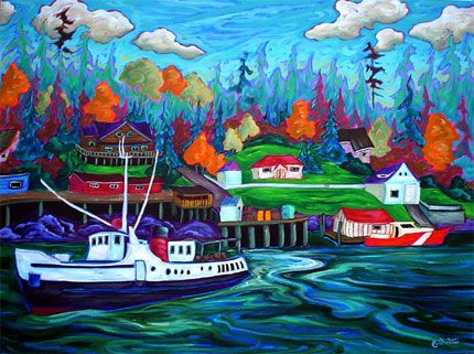 The Lady Rose Departs the Dock at Bamfield- Fred Petters