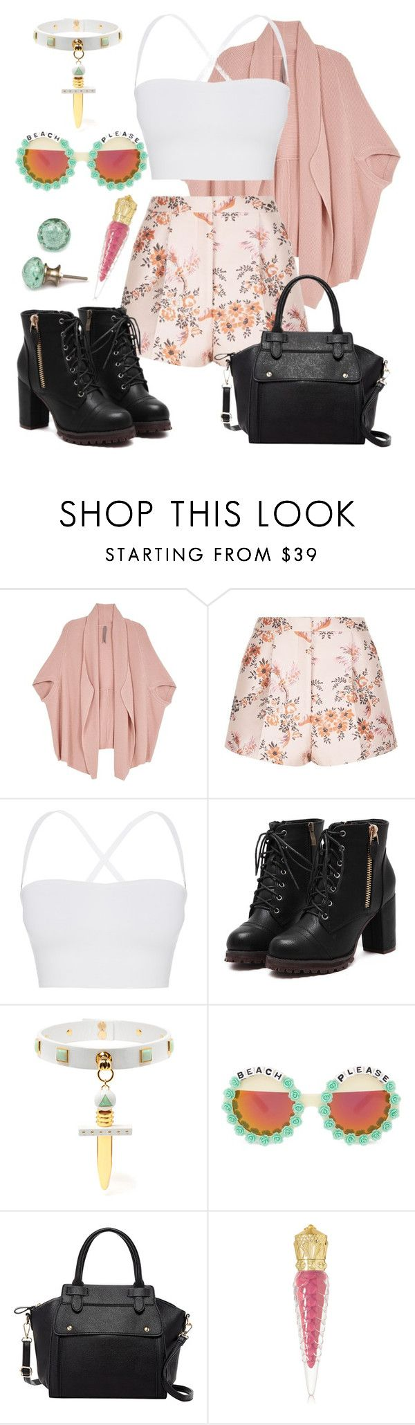 """""""Nope."""" by boneca-costa ❤ liked on Polyvore featuring Melissa McCarthy Seven7, STELLA McCARTNEY, Theory, Rad+Refined, Pink Haley, Christian Louboutin and plus size clothing"""