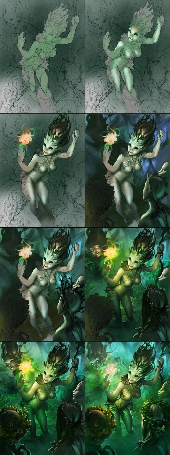 Process for Dryads Magic by APetruk on deviantART ★ Find more at http://www.pinterest.com/competing/
