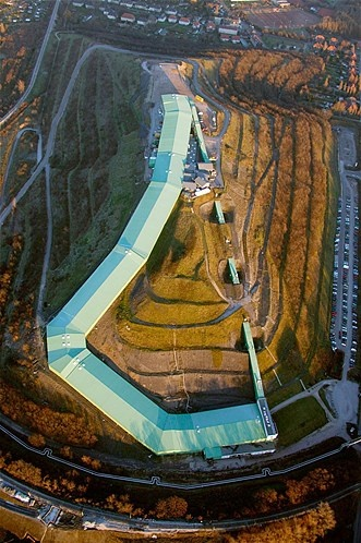 Do you ski?  Snowboard?  Maybe this is the place for you!  Built on a coal slag heap, the Alpin Center, a ski and snowboarding facility in Bottrop, Germany, boasts a 2,100-foot long run. The facility is open every day.