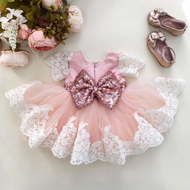 """NEW!  Julia Dress in Rose Gold!  In stock and ready to ship! To order: Ittybittytoes.com (search """"Julia"""")"""