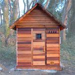 WOW would I love that! 4'x6' Outdoor Sauna Kit + Heater + Accessories