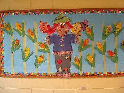 Trinity Preschool MP: Fall scarecrow bulletin board- Oak Room