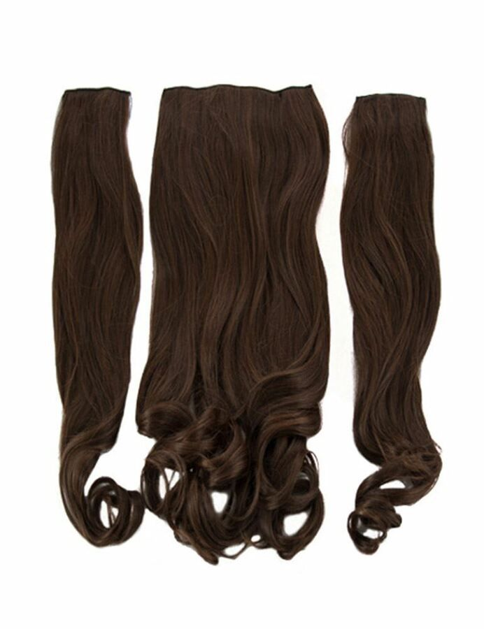 New Ladies Curly Clip In 3 Piece Set Weft 20 Hair Extensions Koko Uk 29 Colors Set Weft Piece Curly Clip Ins 20 Hair Extensions Silver Hair Clip