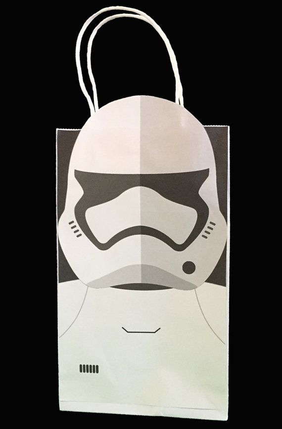 Star Wars Stormtrooper Party Favor Bag Printable by GalacticParty