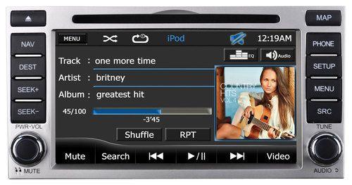 """Audiovox - Refurbished 7"""" - Built-In GPS - CD - In-Dash Deck for 2009-2012 Hyundai Santa Fe Vehicles"""