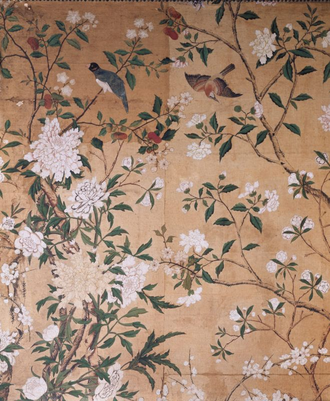 Detail of the Chinese wallpaper in the State Dressing Room at Nostell Priory, West Yorkshire. ©National Trust Images/J. Whitaker