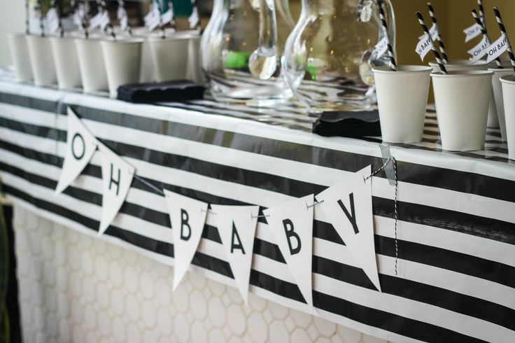 A Feteful Life: Black + White Baby Shower