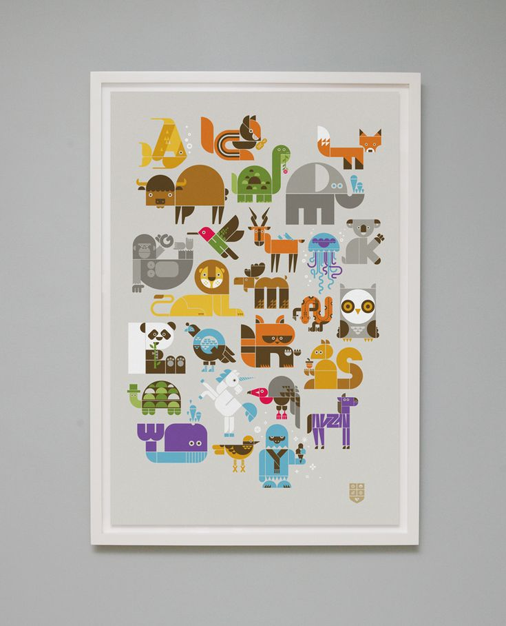 wee alphabet screen print
