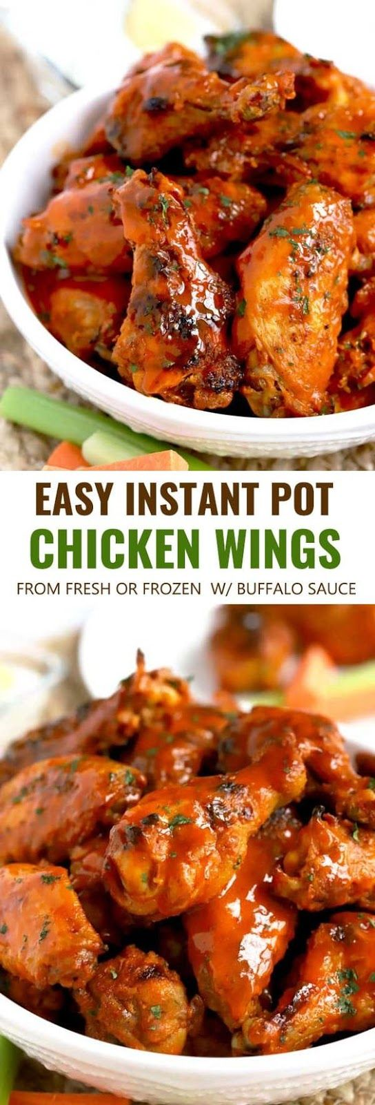 Easy Instant Pot Chicken Wings From Fresh Or Frozen Grace Delicious Instantpot In 2019