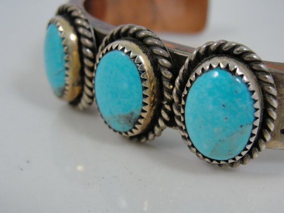 Native American Turquoise Copper Silver Vintage by MSJewelers, $145.00