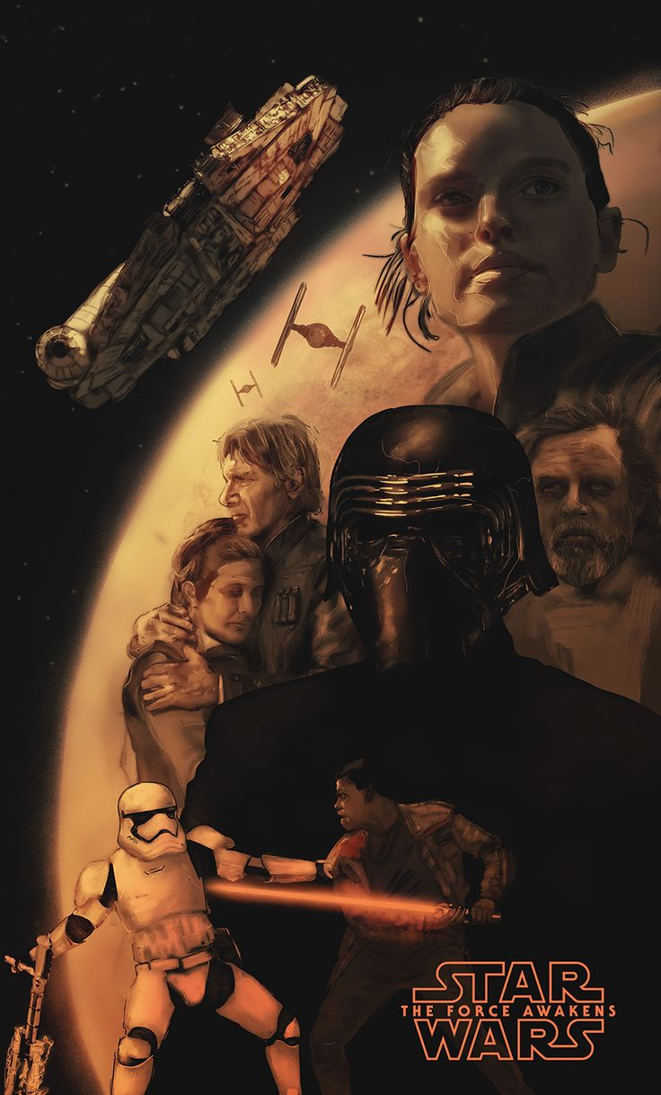 Star Wars: The Force Awakens I Movie Poster I Rafal Rola