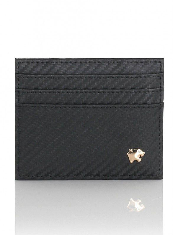 Vip Flap Portafoglio Porta Carte Linea Privilege Collection - Carbonio Nero