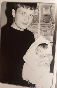 Ian Curtis and his daughter Natalie. Personal photo
