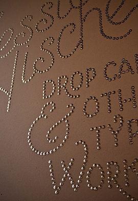thumbtack wording as wall art