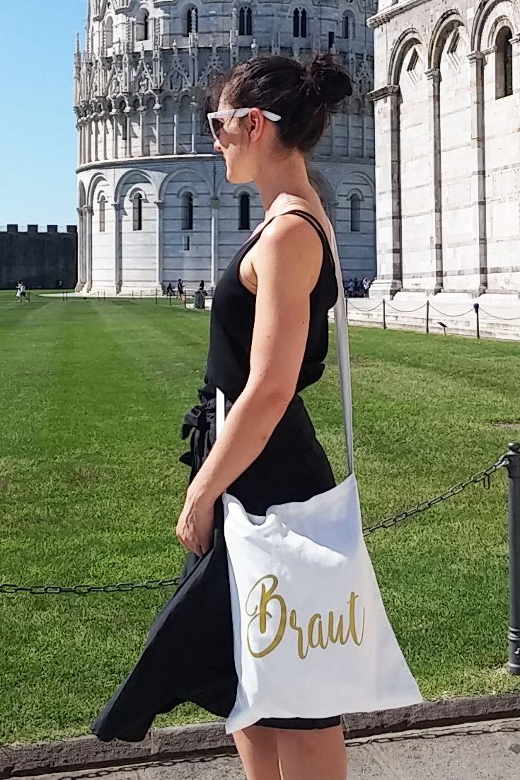 Braut-Outfit für den JGA in Schwarz und Weiß