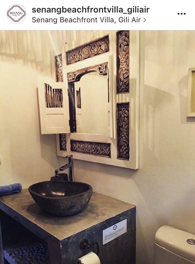 One off the 3 Bathroom in my beachfront villa in the tropical island off Gili Air, near Bali.