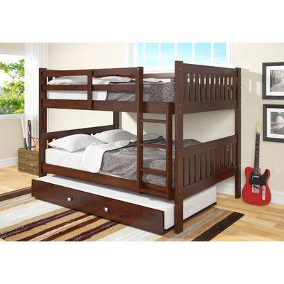 Full Over Full Bunk Bed with Trundle by Donco Kids