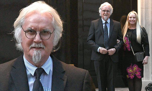 Billy Connolly steps out with wife Pamela Stephenson at Downing Street