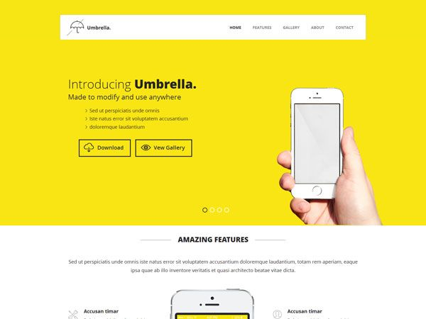 Umbrella Landing Page Template