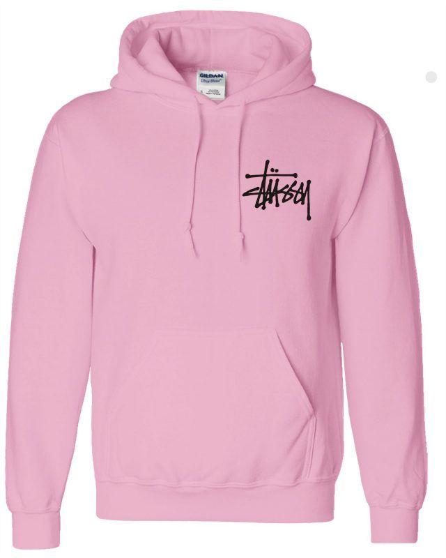 6e34e6428d Stussy Pink Hoodie   Hooded Sweatshirts   Stussy, Hoodies, Hooded ...