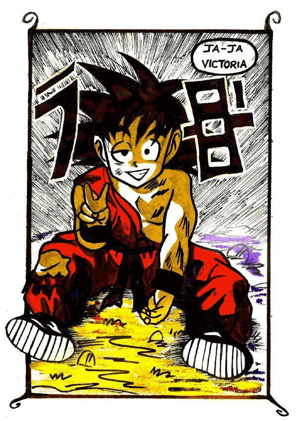 FAN ART: Viñeta Comic de GOKU de Dragon Ball [Sentado] por CRS   CRS: Mis Dibujos de Anime Manga