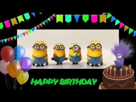 Happy Birthday to me  31/8! Minions Birthday song. - YouTube