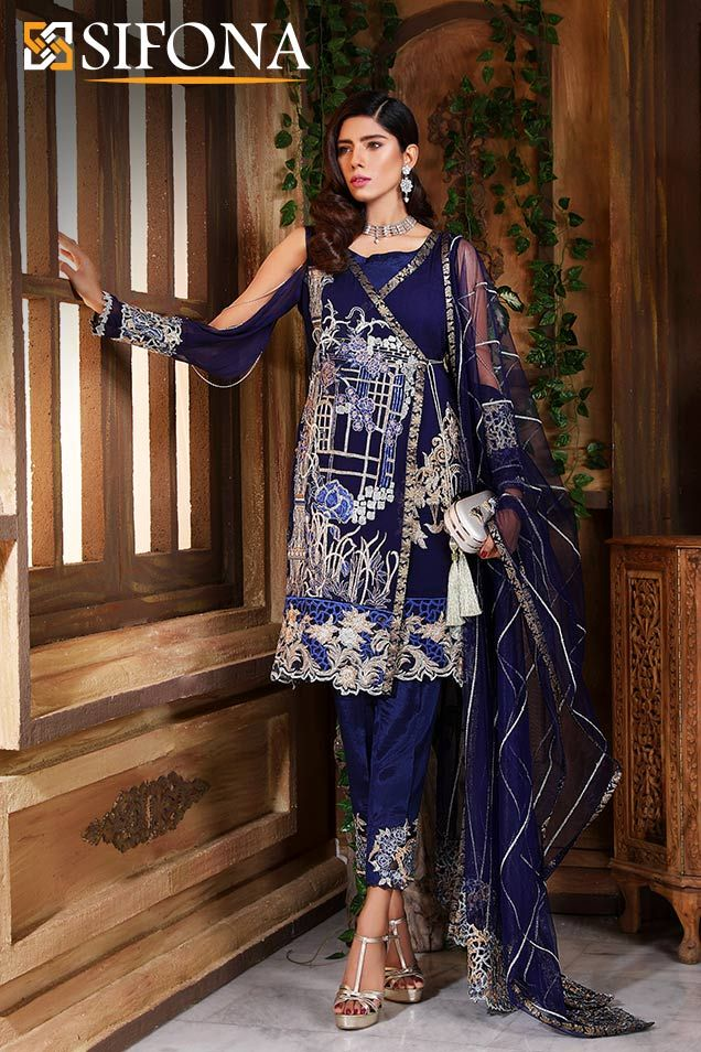7cf25e360d Lawn Collection: Sifona Luxury Elmas Collection 2018 SLE-02 with model Anum  Malik