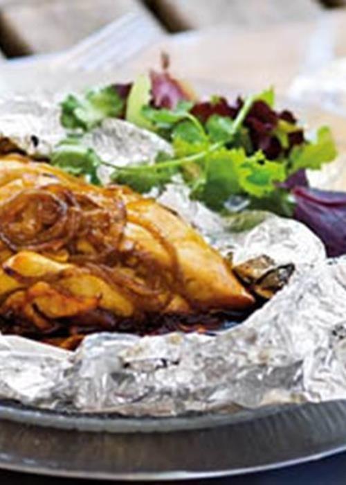 Peitos de frango marinados