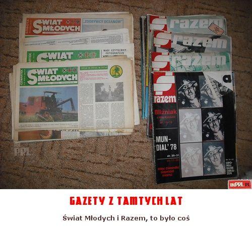 gazety z tamtych lat