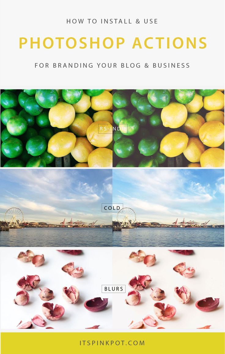 Curious about how to use photoshop actions for branding your blog & business? Here is a step by step tutorial to get you started with photoshop actions and also you can download a free set of professional actions!