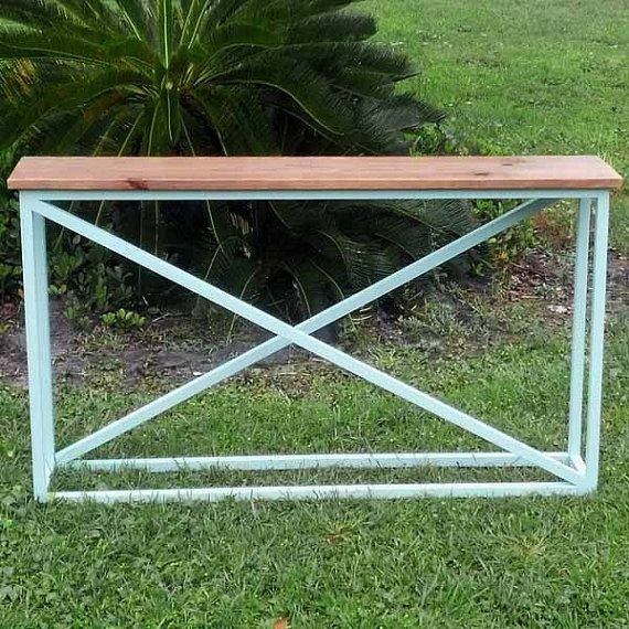 Reclaimed wood entry table - small & narrow, shabby chic modern, avail. as a white entry table