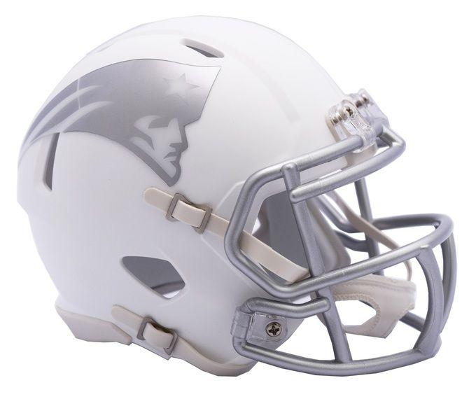 New England Patriots Helmet - Riddell Replica Mini - Speed Style - Ice Alternate Z157-9585531750