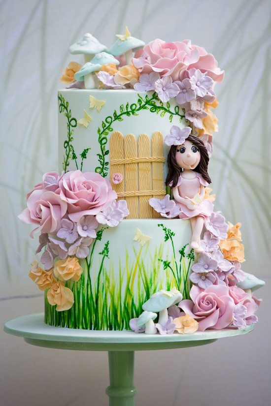 girl cake and max red womens   garden Fairy   Sweet birthday  air Cakes for Cakes little    Fairies    Garden