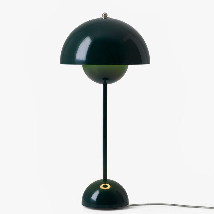 Verner Panton: Dark Green Flowerpot Table VP3