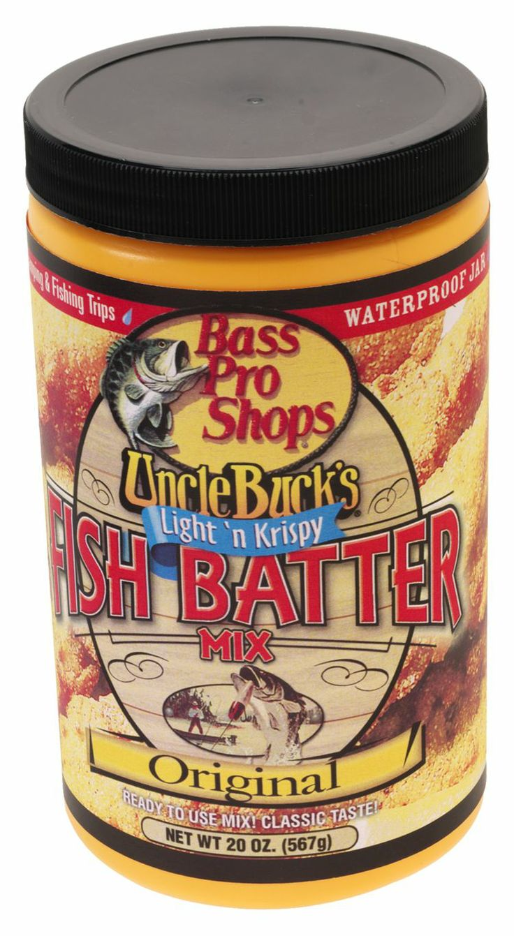 Uncle Buck's® Light 'n Krispy Fish Batter Mix - Original | Bass Pro Shops // Try it on wild turkey, dove, duck breasts, chicken fried steak, pork tenderloin, shrimp, onion rings and more! #camping #fishbatter #fishing #unclebucks #fishfry