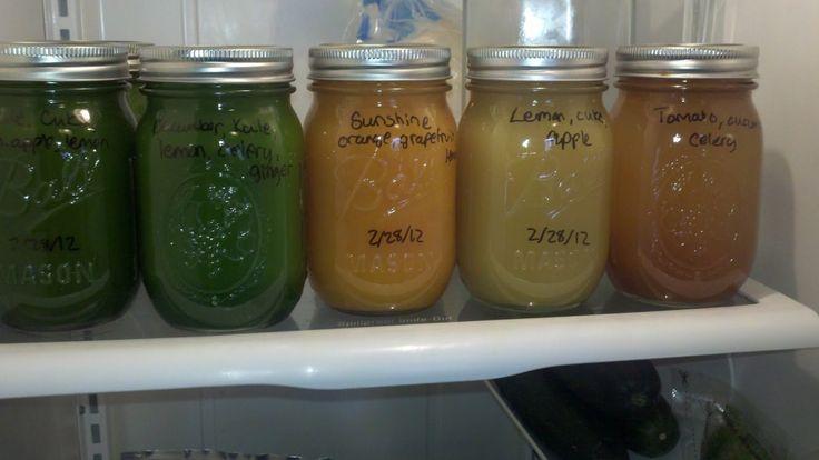 Storing bulk juice.  Images on myjuicecleanse.com courtesy of http://happyhealthyinspiration.blogspot.com/2012/02/48-day-juice-fast-day-7-energy-levels.html