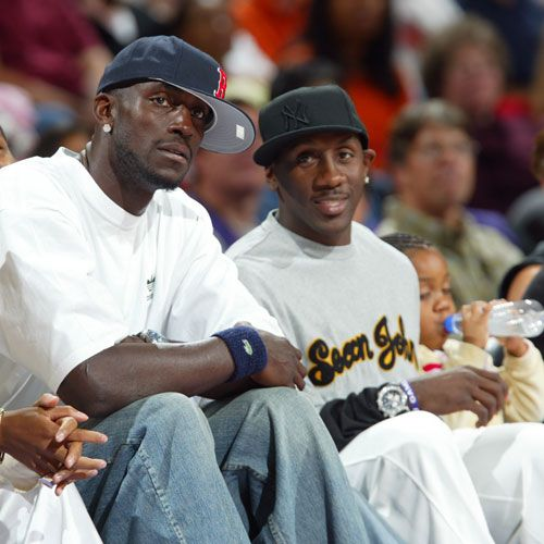 In This Photo, Bobby Jackson Sits With Former Teammate