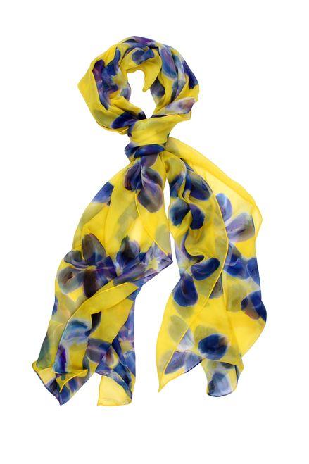 S20003 FLORA 100% Silk Handpainted Scarf #Scarf #scarves #silk #silkscarves #womenscarves #womenstyle