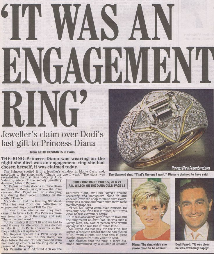 Princess Diana Engagement Ring From Dodi